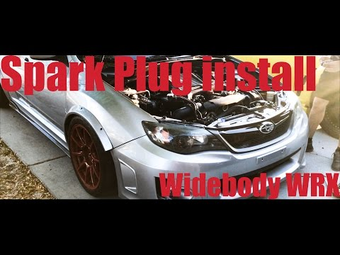 Subaru WRX Spark Plug Install Minimum Tools DIY WIDEBODY WRX