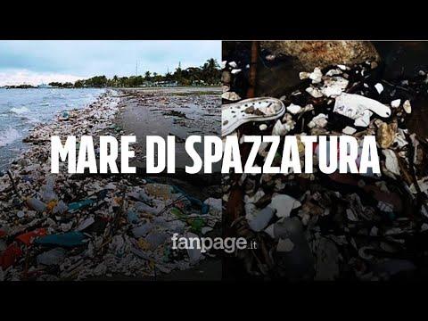 """In Honduras un'ondata di spazzatura ha invaso le spiagge: """"Inestimabili i danni ambientali"""""""