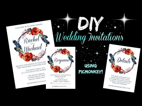 DIY Wedding Invitations Using Pic Monkey!!!