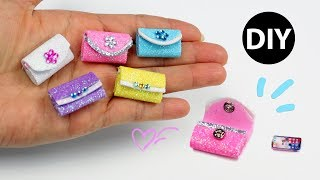 DIY Miniature Evening Bags for Dolls😍Barbie Style Purse👛Dollhouse Accessories 😉Very Easy