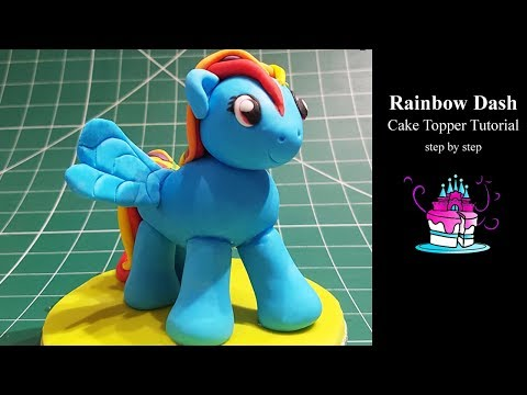My Little Pony - Rainbow Dash Cake Topper