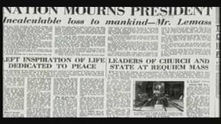 Eamon De Valera speaking on news of the assassination of John F Kennedy, Nov 1963