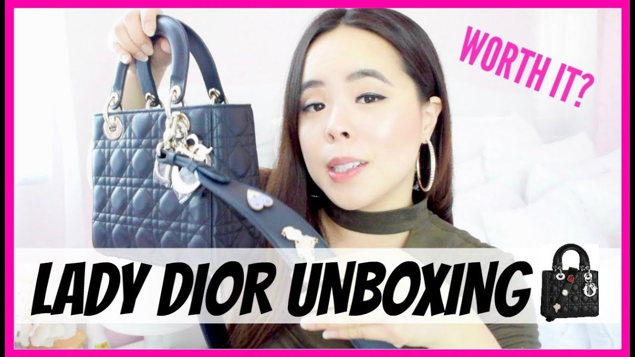 5ad663b7cb Lady Dior Bag Unboxing | What I got in Paris - YouTube