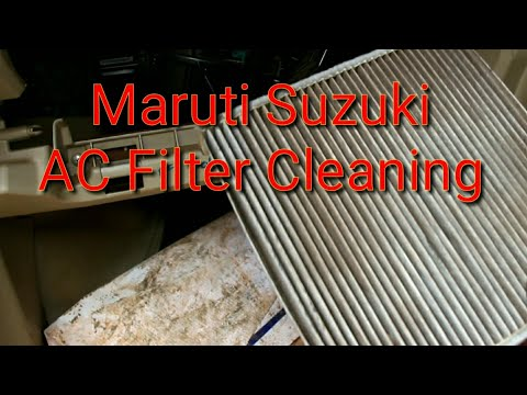 swift car ac filter cleaning