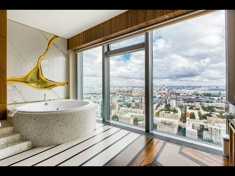 Снять Апартаменты в Москва-Сити посуточно с джакузи на 44 этаже, панорамные окна с видом на центр