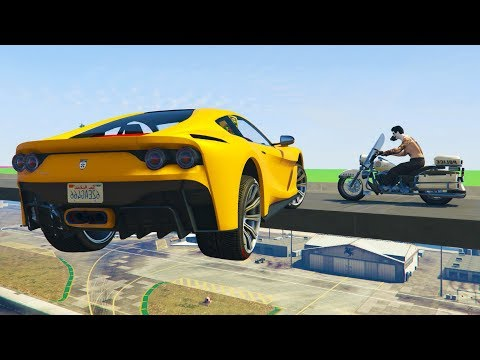 CORRE O TE ATROPELLO! FERRARI vs MOTOS! - GTA 5 ONLINE - GTA V ONLINE