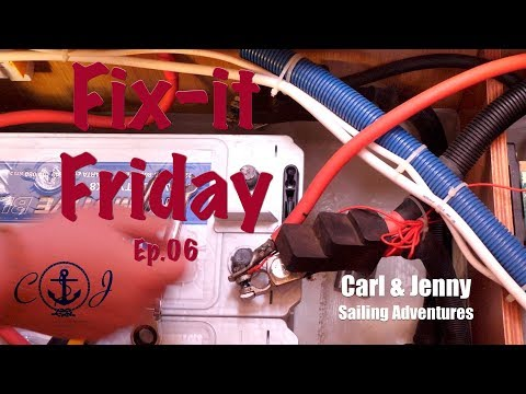 Fix it Friday - We change the batteries on our Bavaria 47 - Carl and Jenny