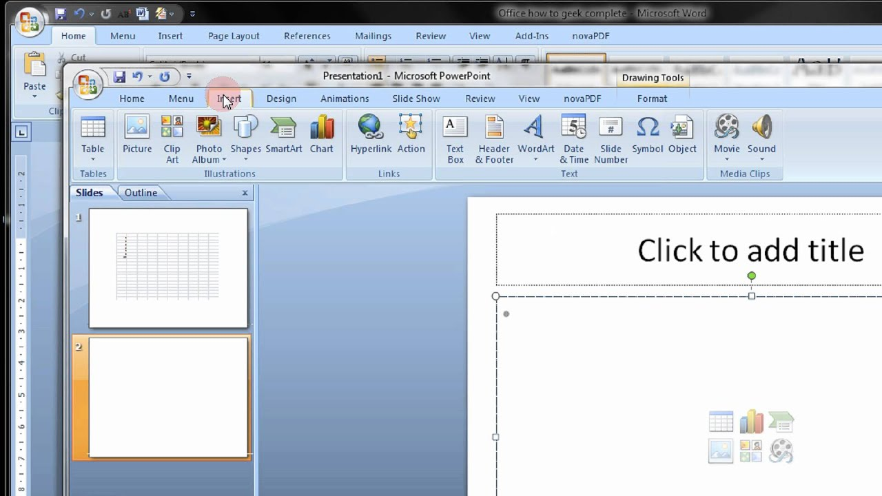 Embed an Excel Worksheet Into PowerPoint or Word 2007 Step By Step ...
