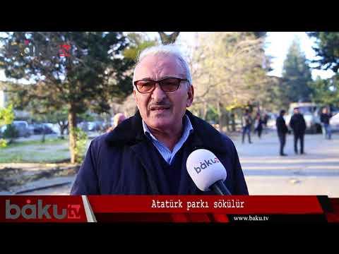 Atatürk parkında aparılan söküntü barədə - REPORTAJ