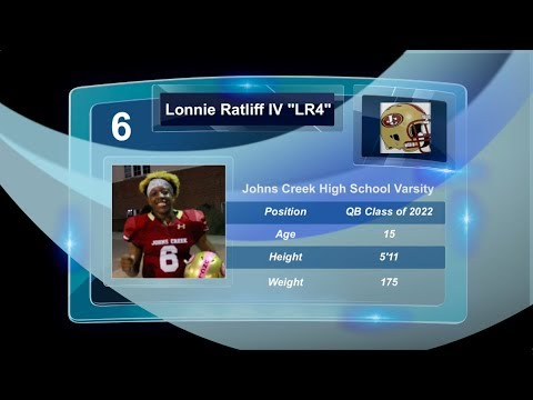 "TwinSportsTV: Lonnie Ratliff IV ""LR4"" QB #6 Varsity Recruitment Video (Johns Creek High School)"
