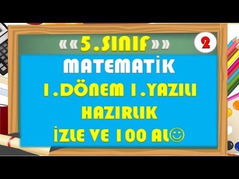 5.Sınıf Matematik 1.Dönem 1.Yazılı Hazırlık 2-Yardımcı Öğretmen