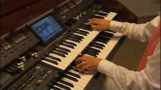Ryoki Yamaguchi Playing Brand New Roland AT-900 Organ - Artist of Japan & USA