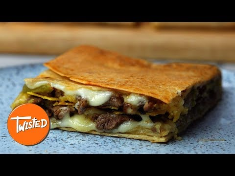 Giant Philly Cheesesteak Crunchwrap Recipe | Twisted