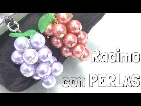 2097ec8b0b23 Como hacer un colgante de racimo de uva con abalorios y perlas DIY