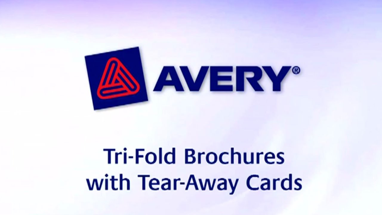 AVERY TriFold Brochure With TearAway Cards X Soft Gloss - Avery brochure template