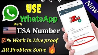 How to create whatsapp account with fack number fack number se