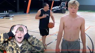Reacting To Trash Talking Old Man 1v1 Basketball!