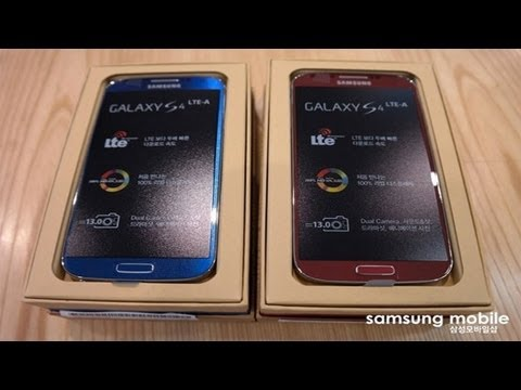 NEW Samsung Galaxy S4 LTE A, Snapdragon 800, Blue & Red Offical!