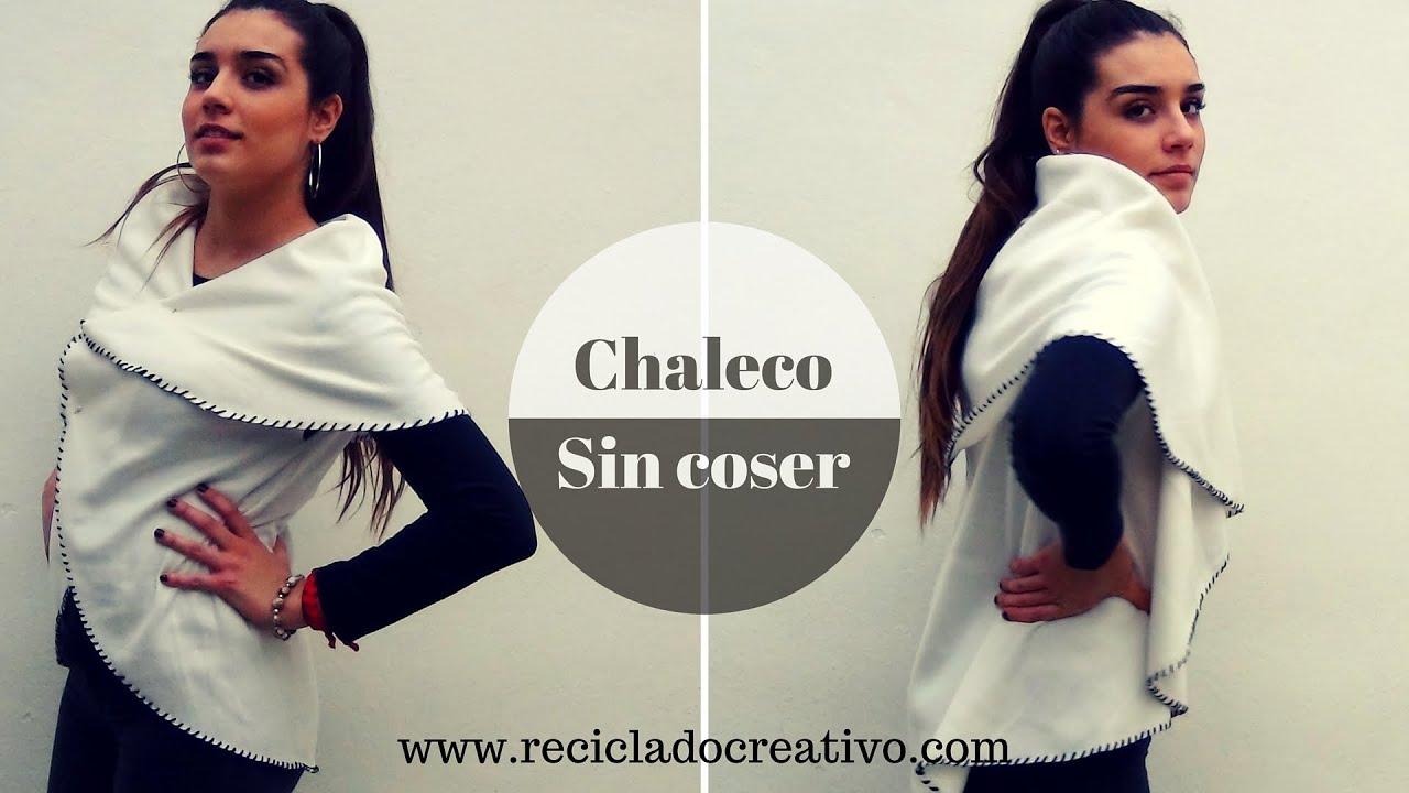 Cómo hacer un elegante chaleco circular sin coser - How to make a Circle  Vest No Sew 34a0ea7cb8e0