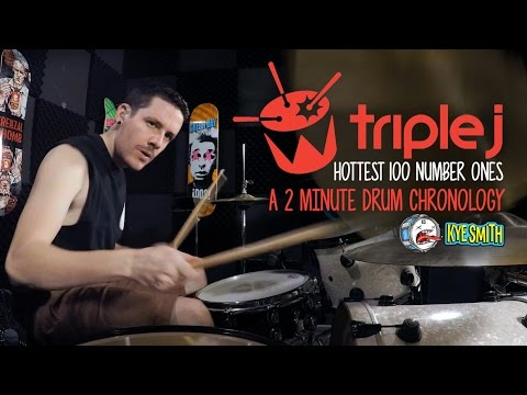 Triple J Hottest 100 Number Ones: A 2 Minute Drum Chronology - Kye Smith [4K]