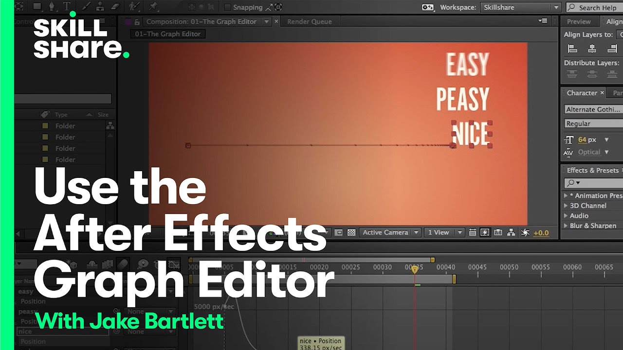 How To Use the Graph Editor After Effects