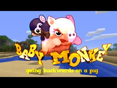 Baby Monkey (Going Backwards on a Pig) - Minecraft Version