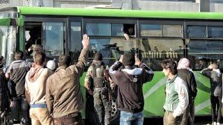 النداء الأخير. جيش الإسلام وفيلق الرحمن قريبا في الباصات الخضر إذا لم ينهوا خلافاتهم !-هنا سوريا