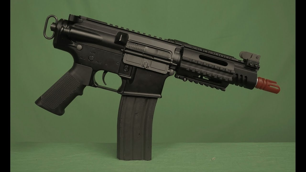 ics full metal m4 assault pistol cqb airsoft aeg rifle