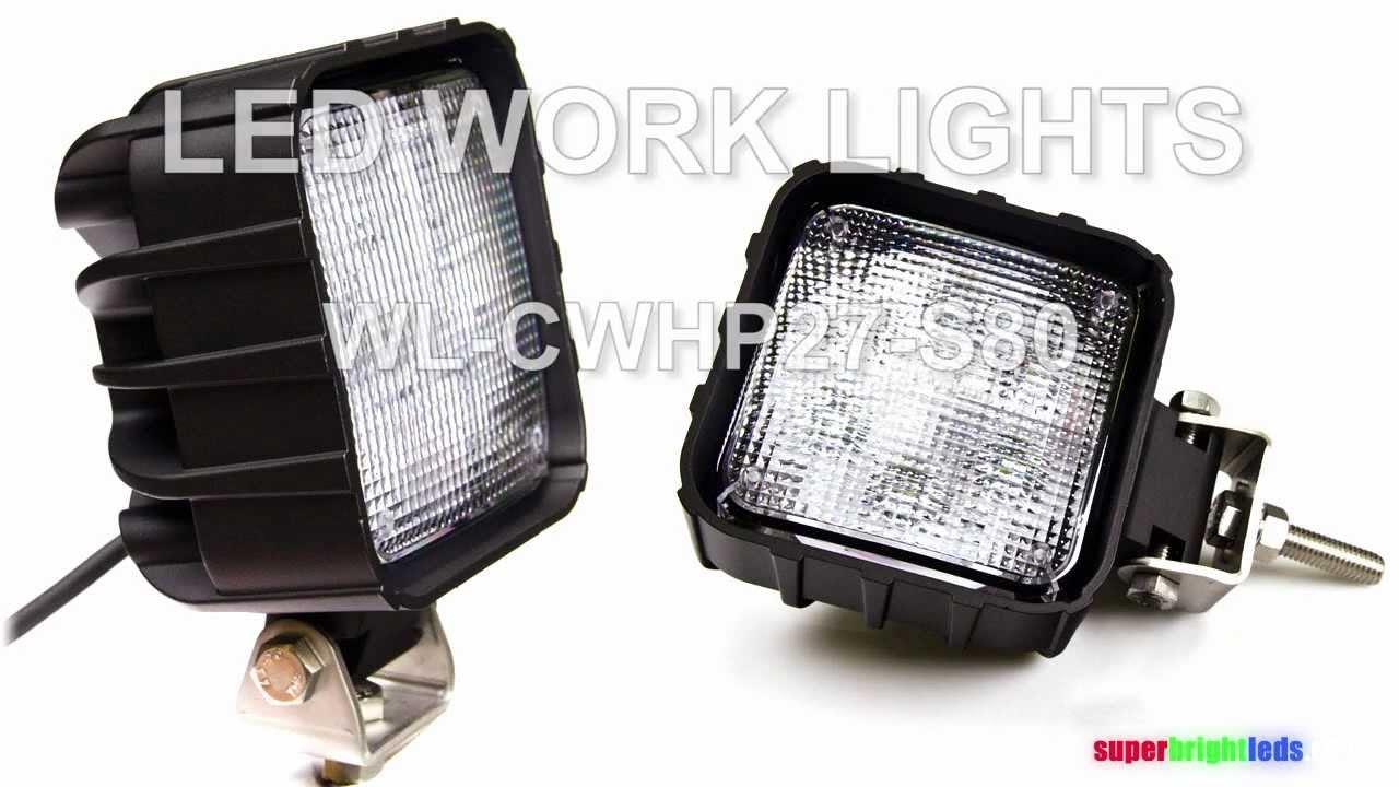 Led Fork Lift Lights : Led work lights on forklift youtube
