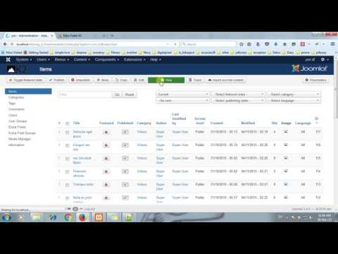 How to create Extra Fields with K2 in Joomla!   YouTube 720p