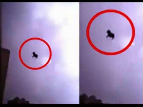 Flying Black Horse in Jeddah, Saudi Arabia alien 2016