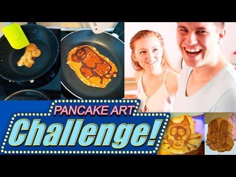PANCAKE ART CHALLENGE!   БЛИННЫЙ ВЫЗОВ!   SWEET HOME