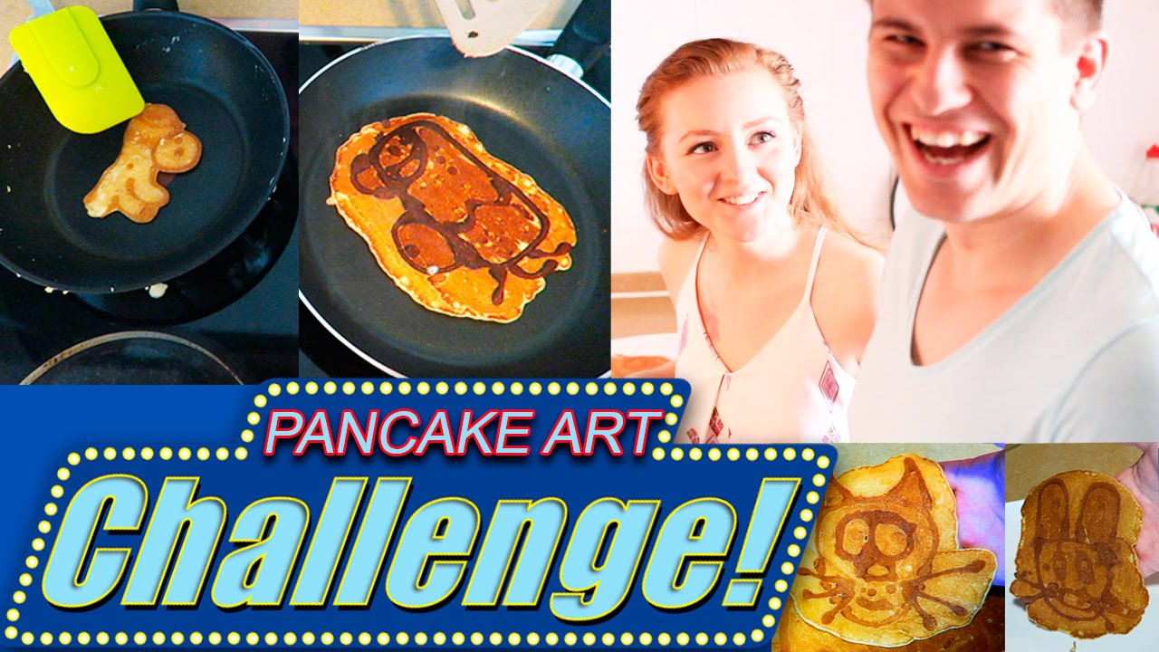 Pancake Art Challenge : PANCAKE ART CHALLENGE! ??????? ?????! SWEET HOME - YouTube