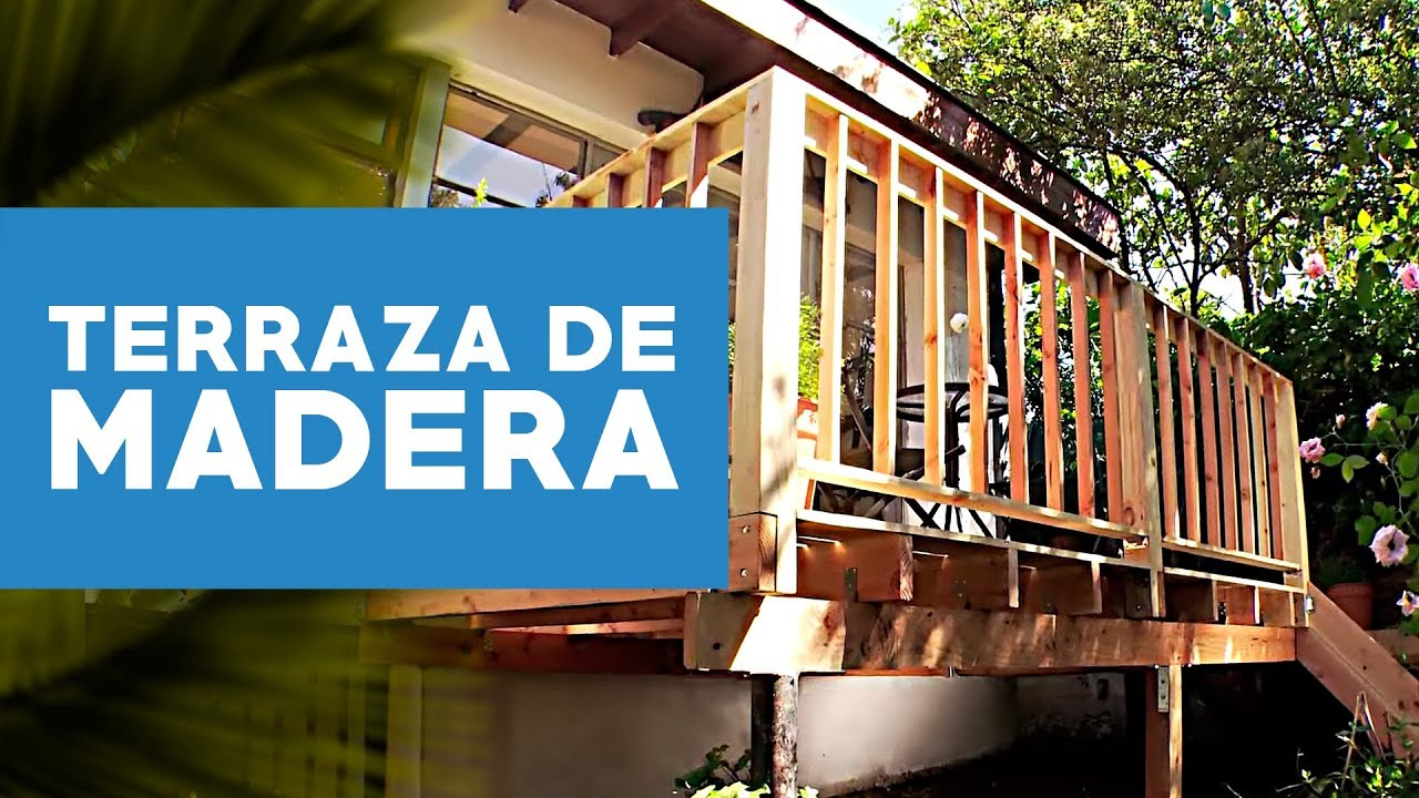 C mo construir una terraza de madera youtube for Living de madera para terraza
