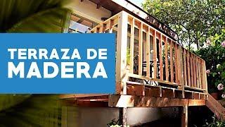 ¿Cómo construir una terraza de madera?