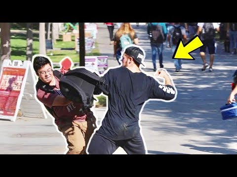 Punching Scare Prank in College! Part 2
