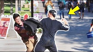 Punching Scare Prank in College! 🔥
