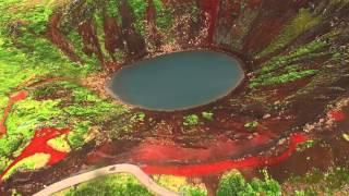 Kerid Crater in Iceland shot with DJI Phantom 3 Professional in 4k