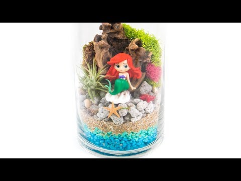 DIY How to Make Disney Little Mermaid Glass Terrarium