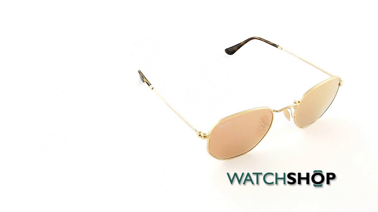 a64b2ba1f6eff Ray-Ban Men s Hexagonal Flat Lens Sunglasses (RB3548N-001 Z2-48 ...