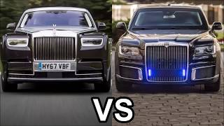 Rolls Royce Phantom против Aurus Senat