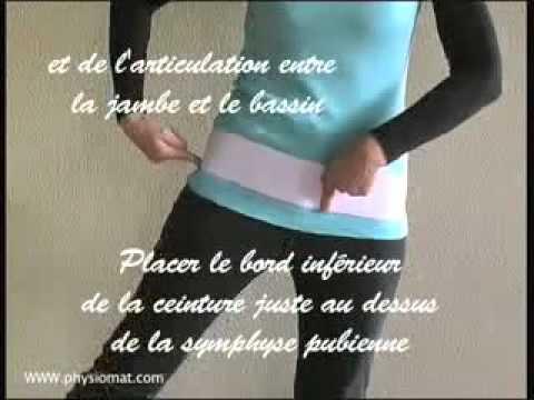 Comment mettre sa ceinture de grossesse physiomat - YouTube bb6f6491def
