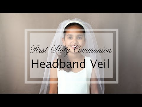 How to make the First Communion Headband Veil - YouTube 8407da819fd
