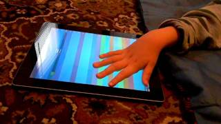 Playing ThumbJam on the iPad: iPad Apps for Blind Kids