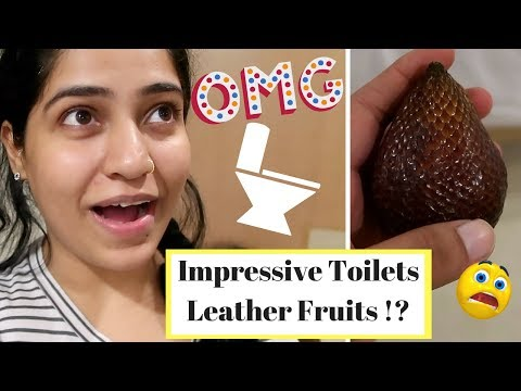 Why did the Bali Washroom Impress Me ? Fruit Made From Leather?