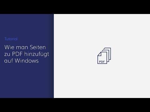 Video Wie man Seiten mit PDFelement zu PDF hinzufügt