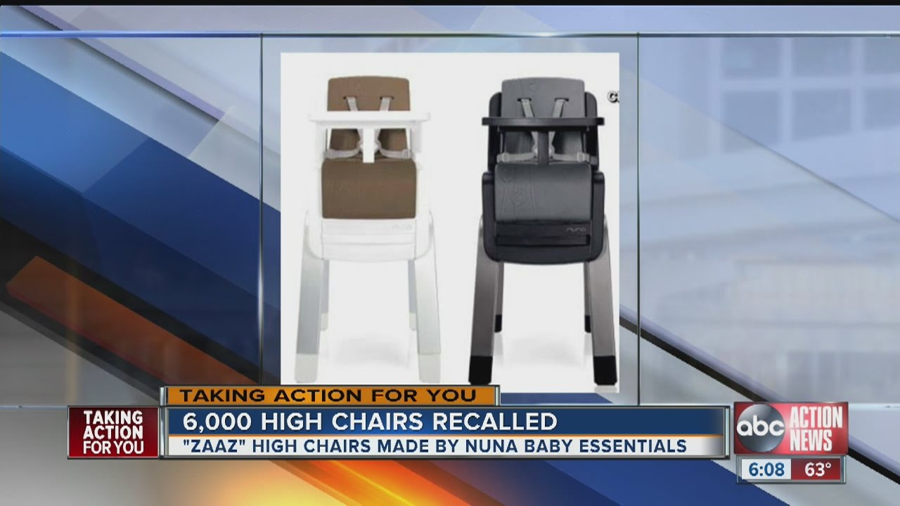 High Chair Recall Infinite Position Recliner Power Lift Alert Nuna Baby Essentials Recalls Chairs Due To Fall Hazard