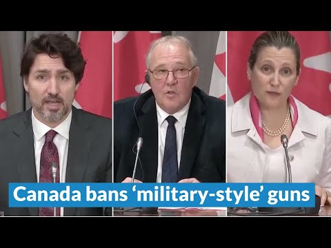 Canadian government announces ban of 'military-style' guns | May 1, 2020