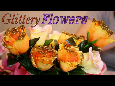 Two Ways to Create Glitter Flowers - YouTube