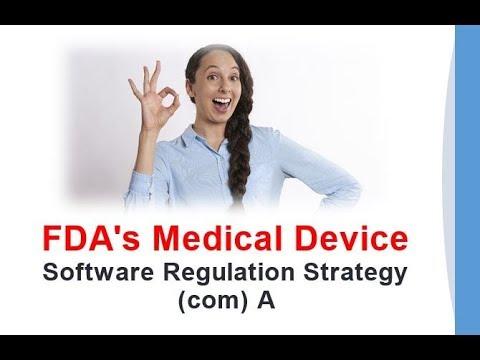FDA's Medical Device Software Regulation Strategy com A